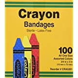 Bandages, Crayon Strips, Adhesive, 100/BX (AGPCRA5261) Category: Bandages and Dressings
