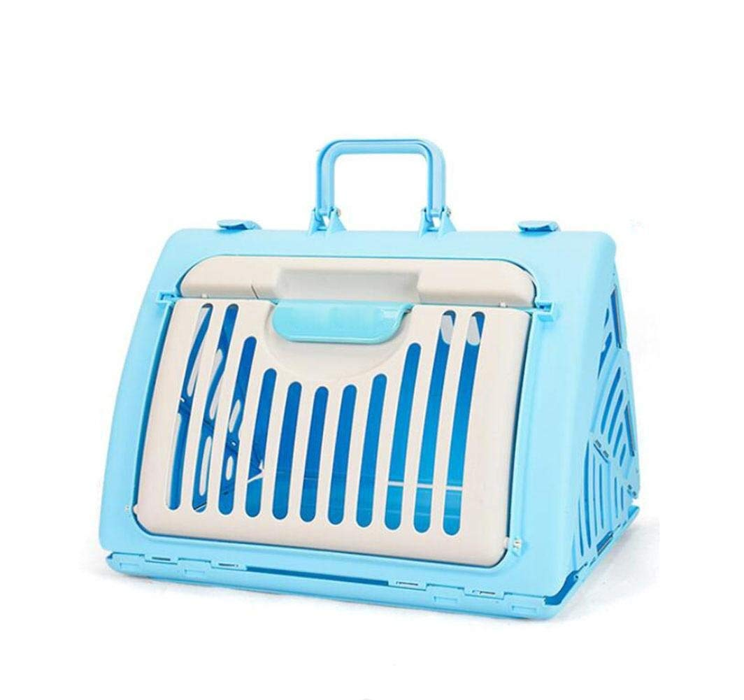 blueee Pet Carrier Seat Cat Box Cat Bag Pet Out of The Box Air Box Backpack Cat Litter Cat Cage Dog Out of Foldable Box, Red Pet Carrier Crate