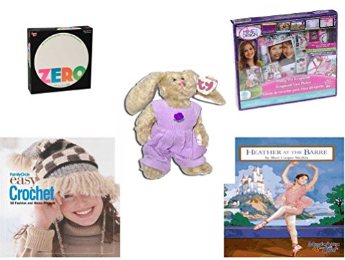 Iris Circle - Girl's Gift Bundle - Ages 6-12 [5 Piece] - Zero Game - Mine2design Pretty Pix Scrapbook Kit Toy - TY Attic Treasure Iris The Bunny - Family Circle Easy Crochet: 50 Fashion and Home Projects Hardcove