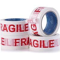 VIROSA Extra waarde breekbare verpakkingstape | 6 rollen per pak 48 mm x 66 m | Ideaal als breekbare tape roll…
