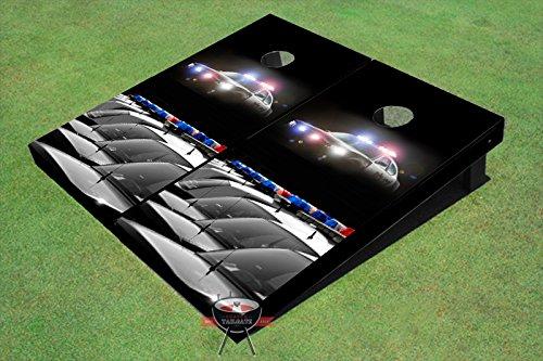 Police CarsテーマCorn穴ボードCornhole Game Set B00O5BPVRM