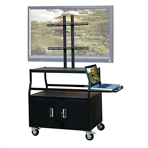 VTI Wide Body Cabinet Cart for up to 55'' Flat Panel TV w/ Pull Out Shelf by VTI