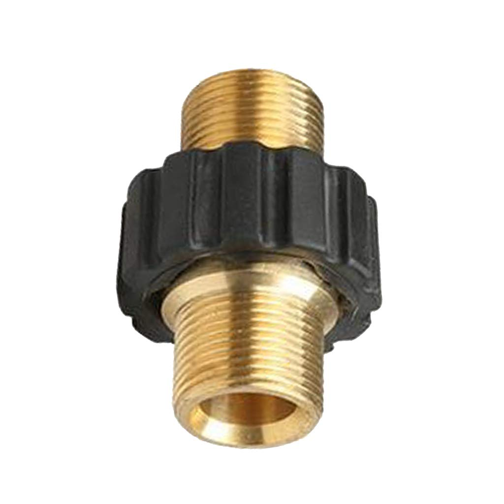 Flameer High Pressure Washer Hose Adaptor Brass Coupling M22 x 1.5mm Male Inner 14mm by Flameer