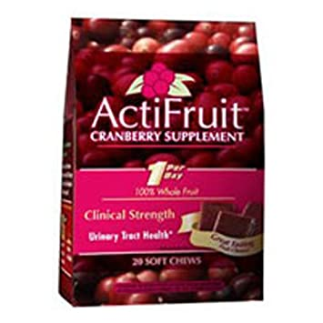 Enzymatic Therapy Actifruit With Cran-Max – 20 soft chews, 6Pack