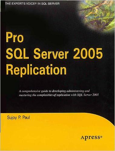 Pro SQL Server 2005 Replication
