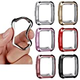 for Fitbit Versa Case, TPU Protective Case Fashion Color Frame Shock Resistant Proof and Shatter-Resistant Cover Protector Shell for Fitbit Versa Smart Watch -6pcs