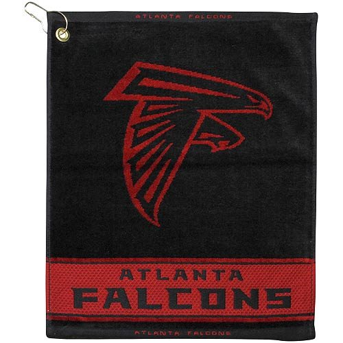 (NFL Atlanta Falcons Black Woven Jacquard Golf Towel)