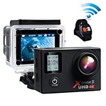 Campark ACT76 Action Cam WIFI Sports Camera Ultra HD Waterproof DV Camcorder SONY Sensor with Mounting Kits and Portable Package
