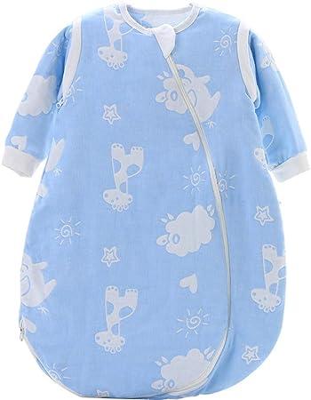 Dtcat Saco de Dormir con pies,Pijama de una Pieza para bebé,Saco de Dormir de Gasa para bebé @ Blue_M,Unisex,Cierre de Seguridad para Saco de Dormir para bebés: Amazon.es: Hogar