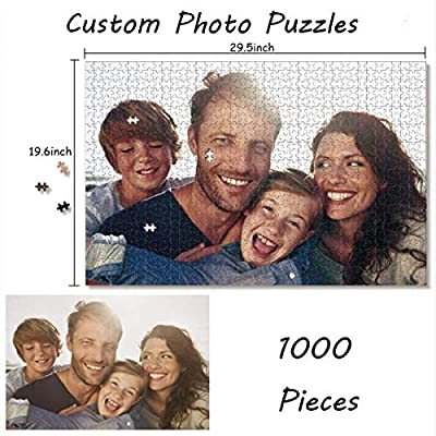 Personalized Puzzle for Adults 1000 Pieces, Custom Puzzles from Photos for Baby Kids Custom Photo Jigsaw Puzzle Best DIY Gifts for Mother's Day Christmas Wedding: Toys & Games