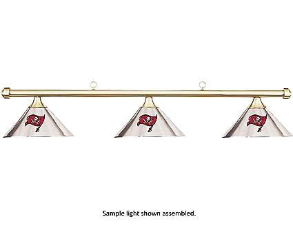 NFL Tampa Bay Buccaneers Chrome Shade U0026 Brass Bar Billiard Pool Table Light