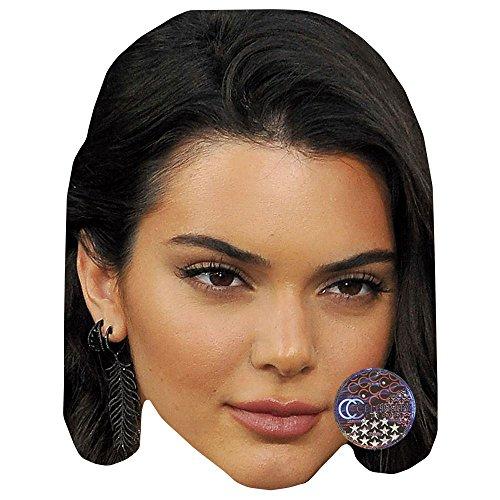 Kendall Jenner Celebrity Mask  Card Face And Fancy Dress Mask
