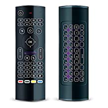 [LED Backlit] LONGYAO MX3 2.4G Mini Wireless Keyboard Air Mouse [3-Gyro and 3-Gsensor] Backlight Multifunctional Learning Infrared Remote Control for Android TV Box,Smart TV,IPTV,HTPC,Mini PC,Windows,iOS,MAC,Linux,PS3,PS4,XBOX 360