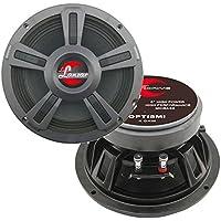 2) New Lanzar OPTI8MI 8 800 Watt 4-Ohm High Power Mid Bass Car Audio Speakers