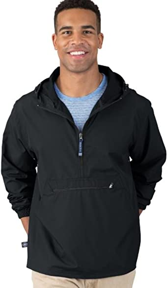 Reg//Ext Sizes Charles River Apparel Pack-N-Go Wind /& Water-Resistant Pullover