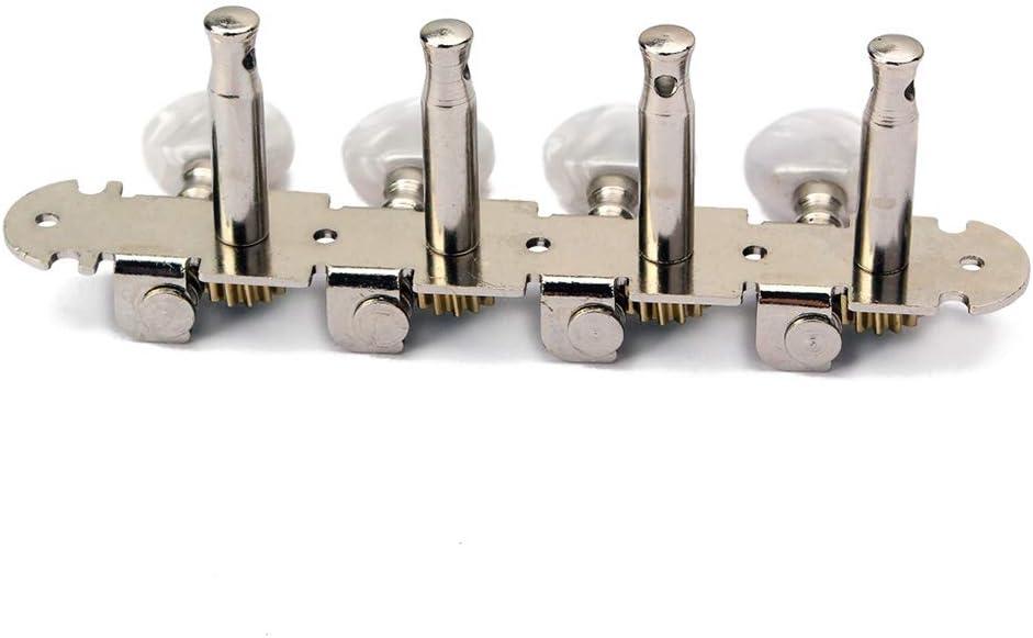 Mandolin Guitar White Pearl Heads 4L4R Machine Heads Round Button Tuning Pegs