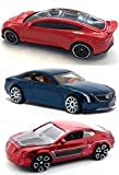 Tesla Model S #217 & Bentley Continental + Cadillac Elmiraj #25 Hot Wheels New Castings 2015 luxury models in PROTECTIVE CASES