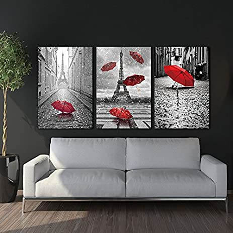 Fy art decor modern 3 pieces canvas printing decor for home wall art black and white