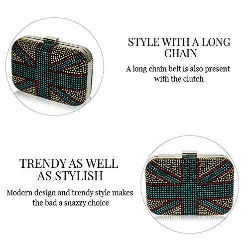 TrendStar - Cartera de mano para mujer Black Clutch Bag