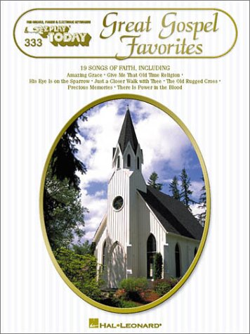 Great Gospel Favorites: E-Z Play Today Volume 333 Old Piano Sheet Music