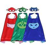 OliaDesign Comics Cartoon Heros Dress Up Costumes 3 Satin Capes With Felt Masks
