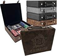 Personalized Poker Set Case - Custom Gifts Poker Players - Free Engraving