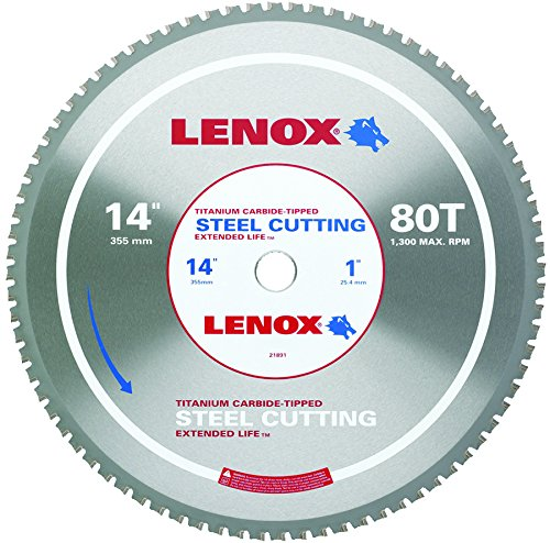 LENOX Tools Metal-Cutting Circular Saw Blade, Solid-Steel Cutting, 14-inch, 80-Tooth (21891ST140080CT)