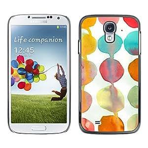 X-ray Impreso colorido protector duro espalda Funda piel de Shell para SAMSUNG Galaxy S4 IV / i9500 / i9515 / i9505G / SGH-i337 - Teal White Paper Kids Art