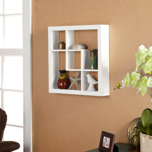 Southern Enterprises 16-Inch Madison Display Shelf, White