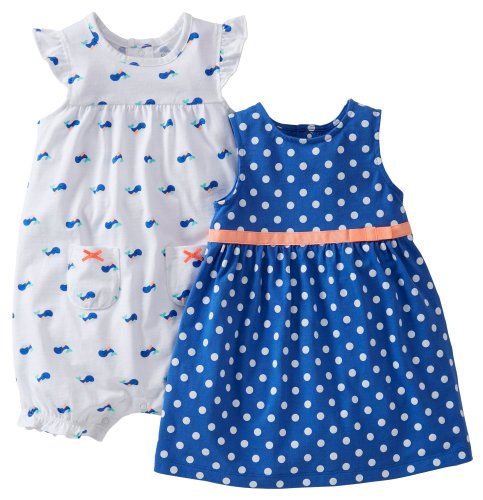 Carter's Baby Girls' 2 Piece Dot Dress and Romper (Baby)