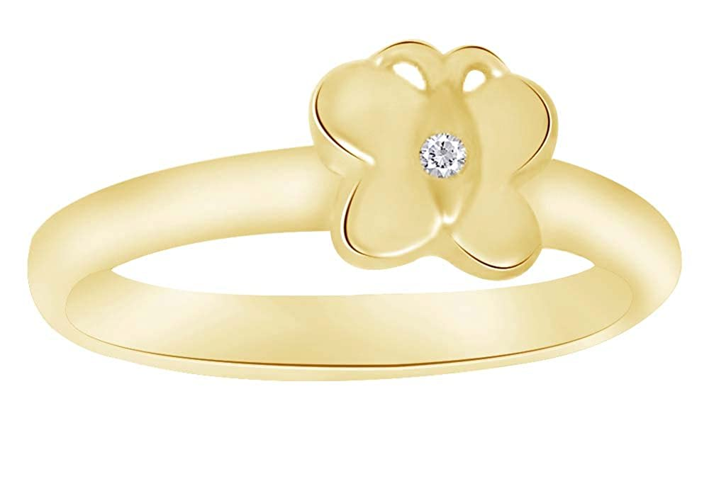 Wishrocks Round Cut White Cubic Zirconia Engagement Ring in 14K Yellow Gold Over Sterling Silver
