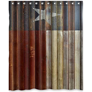 Special Design Western texas Star Waterproof Bathroom Fabric Shower Curtain,Bathroom decor 60  x 72