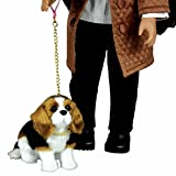 The Queen's Treasures AWSOM Pets! Beagle Puppy Dog Pet Friend with Leash and Collar For 18 inch Dolls Like American Girl.
