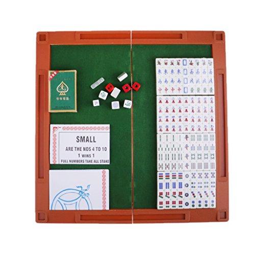 Kesoto 2色選ぶ ミニ 中国麻雀 マージャン 旅行 ボードゲーム ポータブル 麻雀ゲームセット クリスタル - 銀