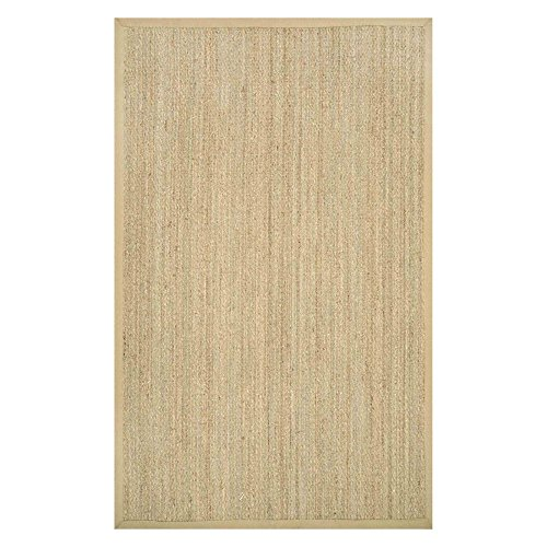 nuLOOM Elijah Seagrass with Border Area Rug, Beige, 8' x 10'