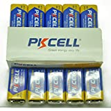 10 Pack PKCELL 9v volt Block 6F22 6LR61 Super Heavy-Duty Battery