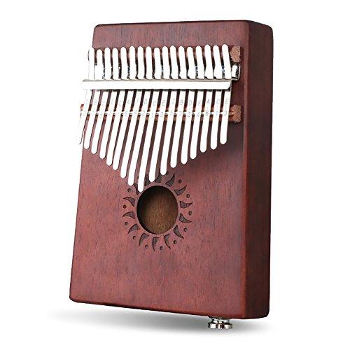 Katerina's 17 keys Thumb Pianos, portable Changbai Mountain logs Keyboard Instruments (Electric box sun)