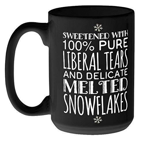 Liberal Tears and Melted Snowflakes Mug, Black, 15 oz ()