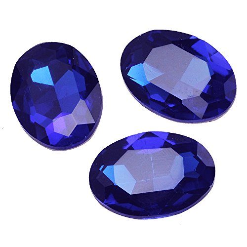 22*30mm Oval Cabochon Cushion Cut Fancy Crystal Stone Cubic Zirconia Stone for Jewelry Making 10pcs/lot (Sapphire blue)