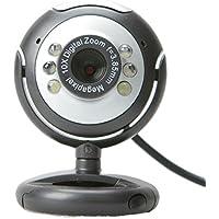 Webcam 12 Mp Com 6 Leps Para Visão Noturna Usb Pc/laptop