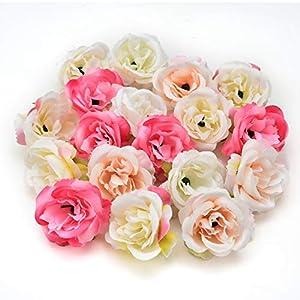 Silk flowers in bulk wholesale Fake Flowers Heads Artificial Flower 5cm Silk Rose Flower Head Wedding Party Home Decoration DIY Wreath Scrapbook Craft Fake Flower 30pcs/lot 4cm 96