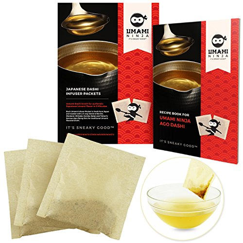 te Japanese Hondashi Broth in 30 Quick Stock Infuser Packets w/Bonito Flakes + Recipe Book for Sneaky Good Flavor by Umami Ninja ()