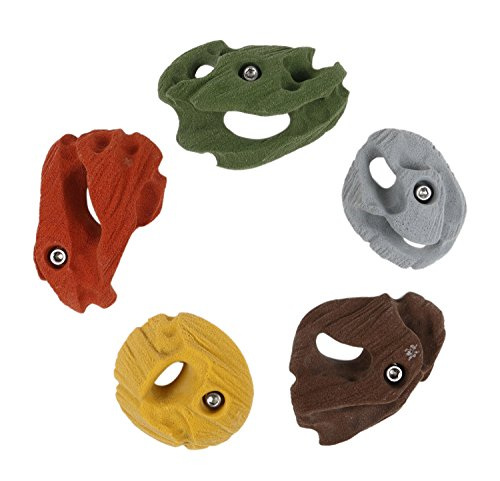 5 Large Joe's Pockets | Climbing Holds | Mixed Earth Tones by Atomik Climbing Holds