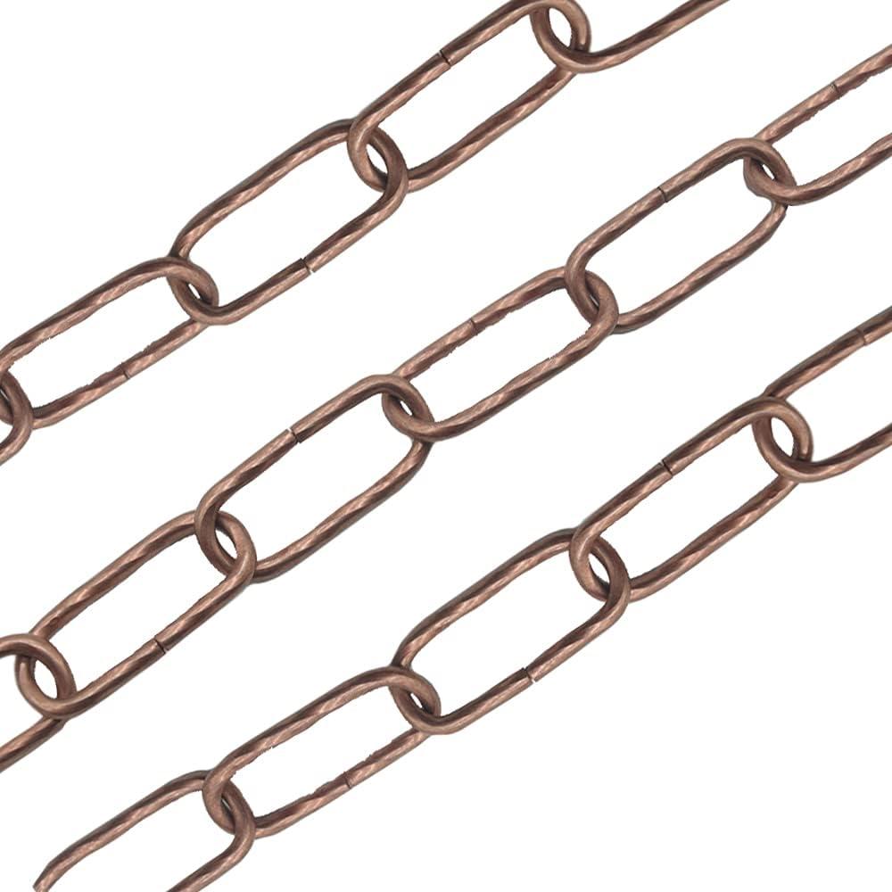 Cadena de lámpara de 1,5 m, diámetro de 3,5 mm, hierro chapado en cobre, cadena decorativa, cadena luminosa, capacidad de carga de 10 kg