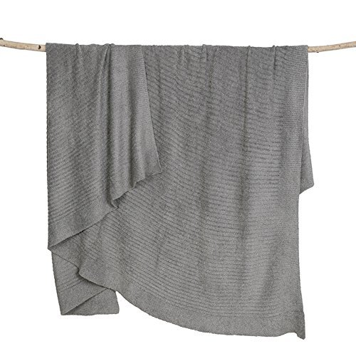 Barefoot Dreams Bamboo Chic Lite Blanket, 30'' X 40'' (Pewter, 30'' x 40'') by Barefoot Dreams