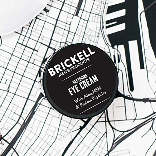 Brickell Men's Restoring Eye Cream for Men, Natural and Organic Anti Aging Eye Balm To Reduce Puffiness, Wrinkles, Dark Circles, Crows Feet and Under Eye Bags, .5 Ounce, Unscented 5