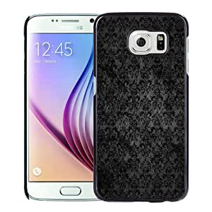 Fashionable And Unique Designed Cover Case For Samsung Galaxy S6 With Black Lace Dark Grunge Pattern_Black Phone Case