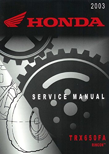 Price comparison product image Honda Rincon,  TRX650FA,  TRX 650 FA,  2003 Repair Service Manual CD / DVD / PDF