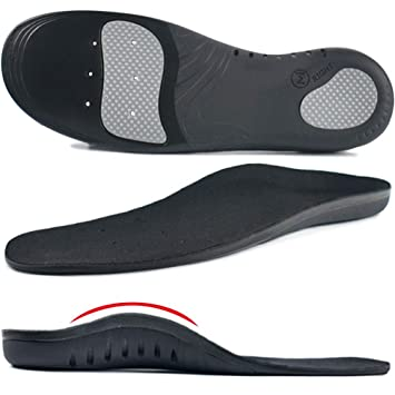 7c557cdffd Ailaka High Arch Support Orthotic Shoe Insoles for Men and Women, Shock  Absorption Gel Cushion