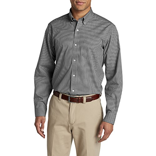 Eddie Bauer Men's Wrinkle-Free Pinpoint Oxford Relaxed Fit Long-Sleeve Shirt - - Wrinkle Long Oxford Shirt Sleeve Free